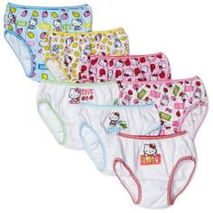 Handcraft Little Girls' Hello Kitty Underwear (Pack of Assorted: Purrfect style. She'll be the cat's meow in these girls' Hello Kitty briefs. In white/multi. Hello Kitty Cake, Girls In Panties, Cat Sweatshirt, Kids Boxing, These Girls, Bikinis, Toddler Girl, Fitness, Little Girls
