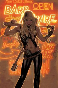 Barb Wire #1 cover by Adam Hughes