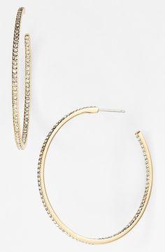 Women's Nadri Medium Inside Out Hoop Earrings - Gold/ Clear (Nordstrom Exclusive) Jewelry Accessories, Jewelry Design, Women Jewelry, Jewelry Trends, Jewelry Box, Gold Hoop Earrings, Women's Earrings, Gold Hoops, Diamond Earrings