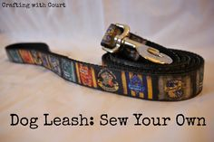 Sew Your Own DIY Dog Leash with Guest Blogger Court from Crafting With Court