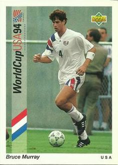 Bruce Murray of USA. 1994 World Cup Finals card.