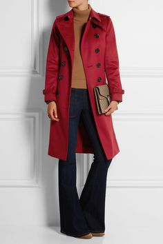 Burberry London|Brushed-cashmere trench coat|NET-A-PORTER.COM