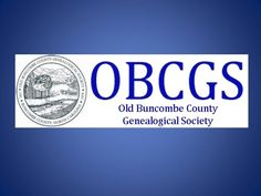 OBCGS » Old Buncombe County Genealogical Society