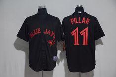 b275d77d9 Men s Toronto Blue Jays Kevin Pillar Lights Out Black Fashion MLB Majestic  Cool Base Stitched Jersey