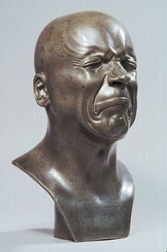 My Wife and I saw this in The Louve, it is one of the only things I remember. Franz Xaver Messerschmidt (1736 – 1783) Emotion...#art #statue