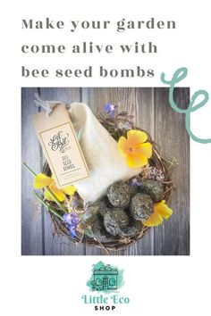 Seed bombs are balls of organic matter, impregnated with a collection of herb and flower seeds. These will flower year after year & encourage pollinators to your garden.� � Simply throw the balls into your garden & water � Packaged in a muslin bag, they're