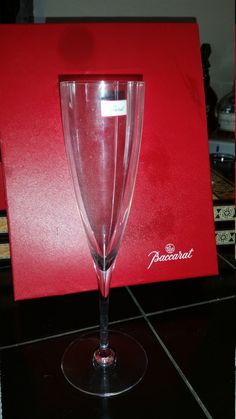 Baccarat Champagne Fluit One is broken, With Box by AngelsAllAroundyou on Etsy