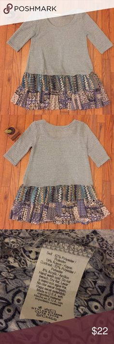 Knit Layered Top Super soft and comfortable! In great condition! easel Tops