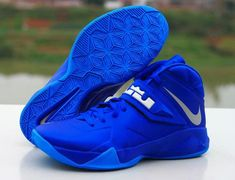 cheap for discount b8f6d df84f Nike Zoom LeBron Soldier VII Game Royal Tenis Basketball, Blue Basketball  Shoes, Sports Shoes