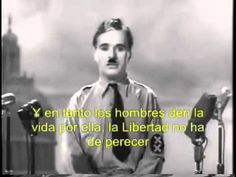 The Great Dictator Speech - Charlie Chaplin + Música tema. Charlie Chaplin, Charles Spencer Chaplin, Book Tv, Classic Movies, World History, Movie Tv, Youtube, In This Moment, Feelings