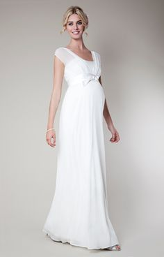 96b3f7d78fc Lily Silk Maternity Wedding Gown Long (Ivory) by Tiffany Rose ON SALE Ball  Gown
