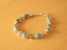 Turquoise & Diamonds by InspiredByKarma on Etsy, $10.00