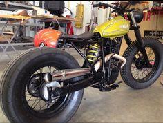 Yamaha bobber, cafe racer, tracker, brat style