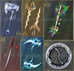 Commissions by Rittik-Designs on DeviantArt Anime Weapons, Ninja Weapons, Fantasy Jewelry, Fantasy Art, Magical Jewelry, Weapon Concept Art, Magic Art, Anime Outfits, Art Tutorials