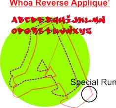 Whoa Reverse Applique Set  www.decodynamix.com/store    Soon, you can also find DST sets of some embroidery fonts unavailable anywhere else on the net. This set is $2.00    Bookmark us..Your guarantee of 'different'. You can download a free set to check for yourself.