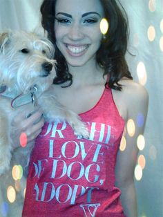 For the Love of Dog Adopt Racerback *PREORDER*