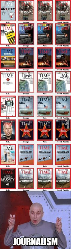 "Probably the only ""TIME"" Americans will see these covers"