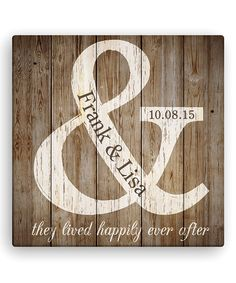 Another great find on #zulily! 'They Lived Happily Ever After' Personalized Canvas #zulilyfinds