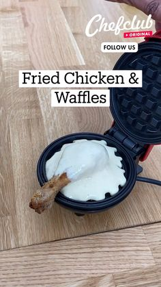 Fun Baking Recipes, Cooking Recipes, Fried Chicken And Waffles, Good Food, Yummy Food, Alcohol Recipes, Diy Food, Food Videos, Food To Make