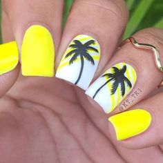 12 Beach Nail Designs To Try This Weekend These 12 beach nail designs are perfect for the weekend! From Neon Pop to intricate Beach Landscape nails, this nail art compilation has it all… - Nail Designs Neon Nails, Cute Acrylic Nails, Diy Nails, Nail Design Glitter, Nail Design Spring, Beach Nail Designs, Cute Nail Designs, Tropical Nail Designs, Beach Nail Art