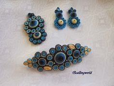 Quillingworld&Decoupage: Nyakláncok,francia hajcsattok,fülbevalók Quiling Earings, Paper Quilling Earrings, Paper Quilling Flowers, Quilling Art, Paper Jewelry, Jewelry Art, Beaded Jewelry, Quilled Creations, Quilling Patterns