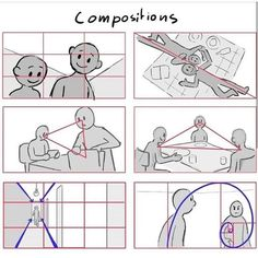 "Studies for drawing composition.⠀ 😃Make your drawing or design more appealing to the eye by using some composition ""rules"". Credit:…Ginger and Freckle. Drawing Lessons, Drawing Techniques, Drawing Tips, Art Sketches, Art Drawings, Drawing Faces, Painting Illustrations, Animal Illustrations, Manga Illustration"