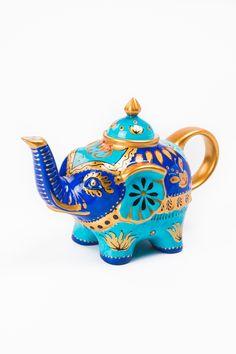 Turquoise Elephant Teapot $24.95
