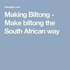 Step by step guide to make biltong - A free biltong recipe Biltong - A cured meat that originated from South Africa and often compared to the American jerky.Biltong is becoming increasingly popular by the day. Not only in South Africa, but also to. Restaurant Style Salsa, Biltong, South African Recipes, Pet Treats, Survival Tips, Lunch Recipes, How To Make, Foods, Afrikaans