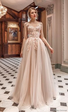 Wedding Dresses Simple Unique aurora couture 2019 bridal sleeveless with strap v neck heavily embellished bodice bustier tulle skirt romantic blush ball gown a line wedding dress mv -- Aurora Couture 2019 Wedding Dresses Light Wedding Dresses, Black Prom Dresses, Pretty Dresses, Beautiful Dresses, Wedding Gowns, Formal Dresses, Ball Gown Dresses, Bridal Dresses, Evening Dresses