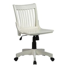 Office Star Products Deluxe Armless Wood Bankers Chair Multicolor