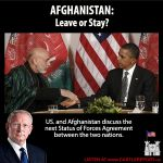 Afghanistan - Leave or Stay? Darrell Castle talks about negotiations between the United States and Afghanistan for a new Status of Forces Agreement.  Listen at www.castlereport.us