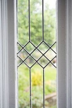 Windows Discover stock photo of a leaded glass window Sticker Pixers - We live to change Window Grill Design Modern, Grill Door Design, Gate Design, Window Design, Leaded Glass Windows, Glass Door, Glass Art, Stained Glass Window Film, Window Glass