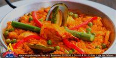 Disfruta nuestra exquisita Paella Marinera, preparada a base de arroz y variedad de mariscos.  www.angusbrangus.com.co   #restaurantesmedellin #AngusBrangus #gastronomía #medellínsisabe