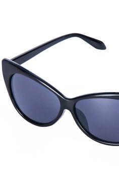 Cat's Eye Sexy Black Sunglasses #ROMWE