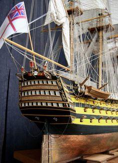 Her Majesty Ship Victory, флагман английского флота, ручная работа