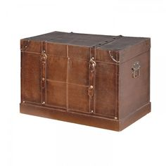 Oxblood faux leather trunk chest   vintage leather style trunk storage. Shop > http://www.exclusiveinteriors.co.uk/storage/chests-trunks/oxblood-faux-leather-trunk