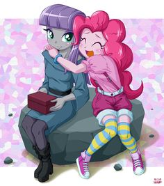 Rock Sister by uotapo on DeviantArt. Maud and Pinkie