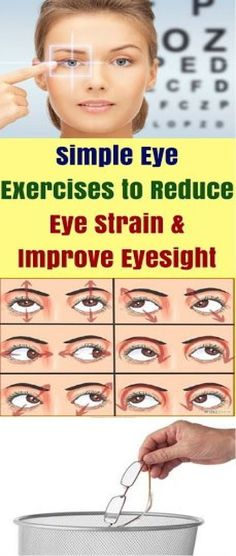 Simple Eye Exercises To Reduce Eye Strain & Improve Eyesight! Simple Eye Exercises To Reduce Eye Strain & Improve Eyesight! Dry Eyes Causes, Comedy, Eye Sight Improvement, Natural Cold Remedies, Eyes Problems, Reduce Cellulite, Eye Strain, Health Advice, Exercises