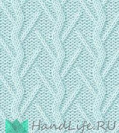 Нежные рельефные узоры спицами / Вязание