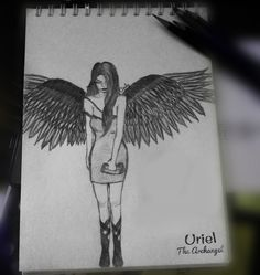 archangel Uriel #uriel #drawing #angel #archangel #dominion