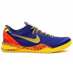 Nike Kobe 8 System Basketball Shoe - Deep Royal Blue/Tour Yellow