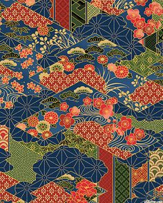 Mandolin - Japanese Garden Dreamscape - Midnight Blue/Gold