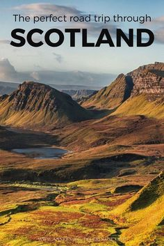 The perfect road trip through Scotland. A travel guide with a detailed itinerary starting in Glasgow and ending in Edinburgh. Scotland Vacation, Scotland Road Trip, Scotland Travel, Ireland Travel, Scotland Hiking, Glasgow, Outlander, Places To Travel, Places To Go