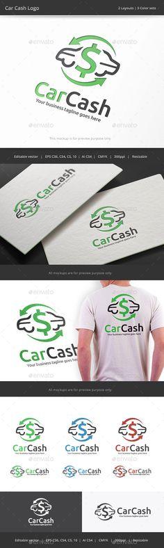 Car Cash  - Logo Design Template Vector #logotype Download it here: http://graphicriver.net/item/car-cash-logo/9363455?s_rank=353?ref=nexion