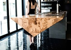 This Restaurant Has A Long Cantilevered Prism Table | CONTEMPORIST