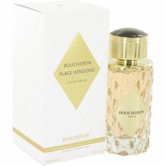 This woody, floral scent for women-Place Vendome Eau de Toilette cames from the design house of Boucheron. This fragrance was launched in 2013 and this sweet scent has a verdant combination of notes that come together to form a light and airy scent you'll want to wear every day. The magic begins with opening notes of peony and yuzu citrus before melting into a floral heart of jasmine petals and blue iris.