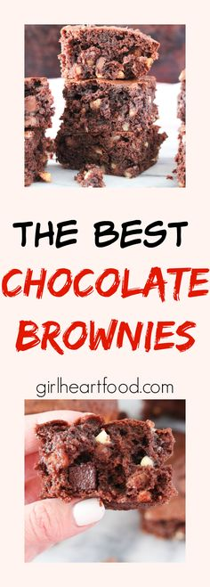 An easy ultra chocolatey brownie loaded with milk and white chocolate chips and walnuts.  It's the perfect companion to a tall, cold glass of milk! #brownies #chocolate #dessert #chocolatebrownies
