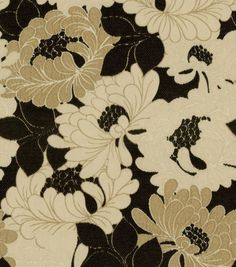 Upholstery Fabric-Richloom Tianna OnyxUpholstery Fabric-Richloom Tianna Onyx,