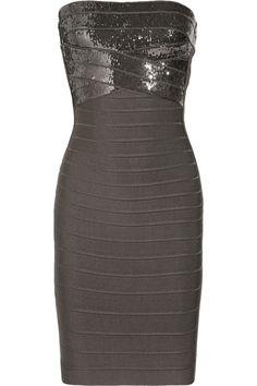 Hervé Léger Simone sequin-embellished bandage dress