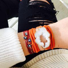 ALV jewels Druzy wrap bracelet // alvjewels.com